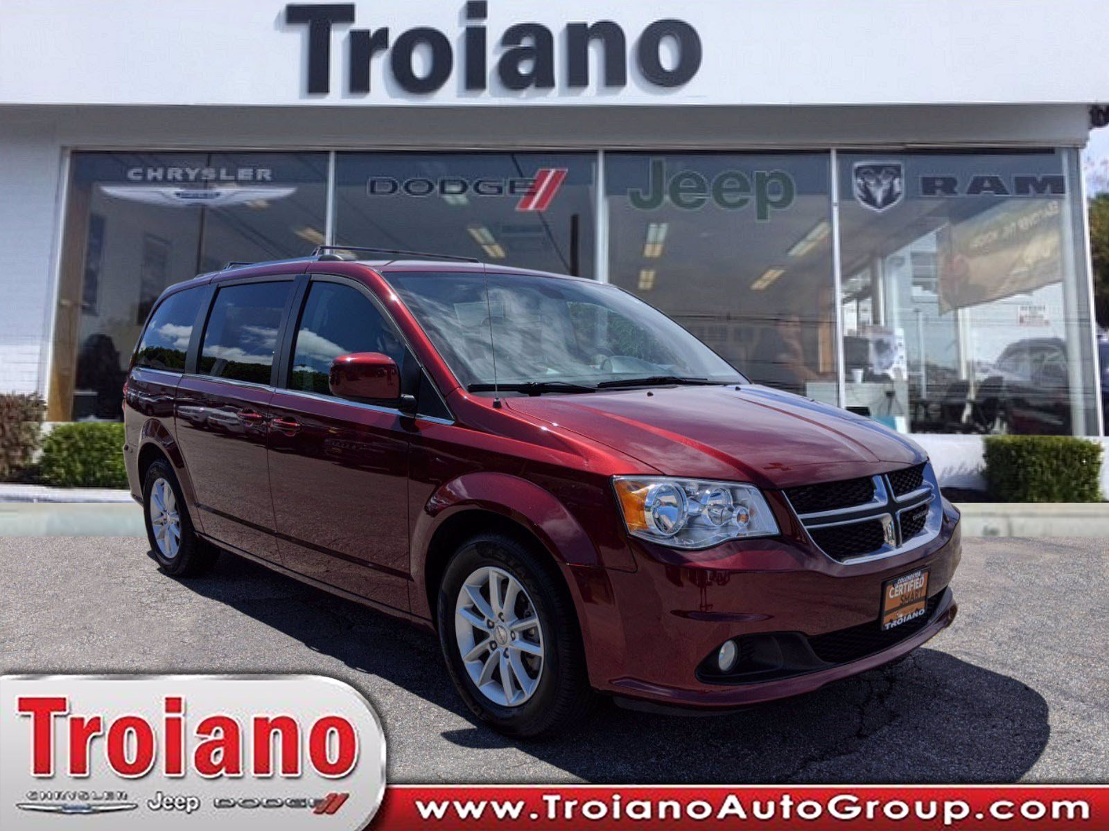 Certified Pre Owned 2019 Dodge Grand Caravan Sxt Mini Van Passenger In Colchester Ct1917 Troiano Cdjr