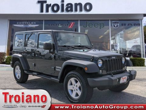 CERTIFIED PRE-OWNED 2017 JEEP WRANGLER UNLIMITED SPORT 4WD