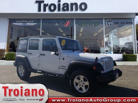 CERTIFIED PRE-OWNED 2016 JEEP WRANGLER UNLIMITED SPORT 4WD